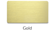 Aluminum Gold plate name tags