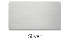 Aluminum silver name tags plate