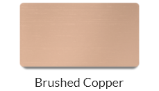 Brushed cooper name tags