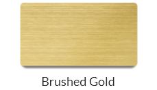 Brushed gold name badge