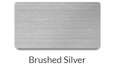 Brushed silver name tags