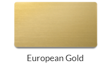 Plastic European Gold name badge