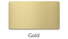 Steel gold Name tag plate