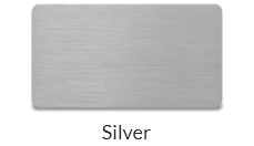 Steel silver plate name tags